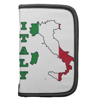 Bandera de Italia en mapa Planificadores
