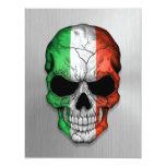 Bandera de Italia en un gráfico de acero del Invitaciones Personalizada