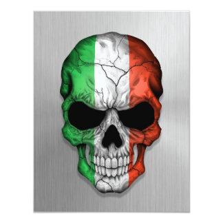 """Bandera de Italia en un gráfico de acero del Invitación 4.25"""" X 5.5"""""""