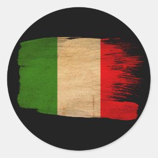 Bandera de Italia Etiqueta