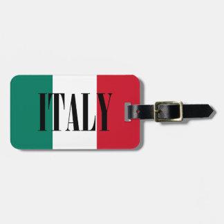 Bandera de Italia Etiqueta Para Equipaje