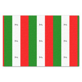 Bandera de Italia, etiquetada Papel De Seda Pequeño