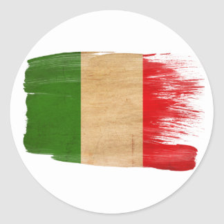 Bandera de Italia Etiquetas Redondas