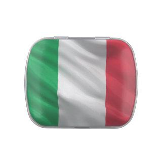 Bandera de Italia Frascos De Caramelos