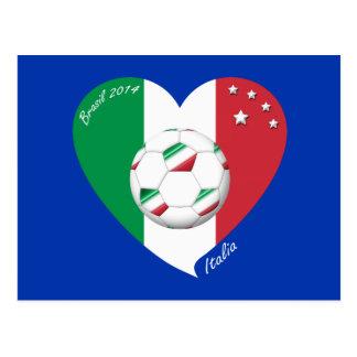 Bandera de ITALIA FÚTBOL mundial campeones 2014 Postales