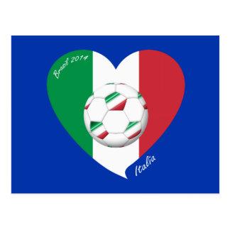 Bandera de ITALIA FÚTBOL y equipos nacionales 2014 Postal
