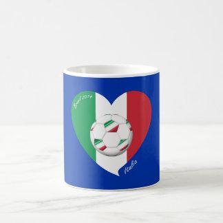 Bandera de ITALIA FÚTBOL y equipos nacionales 2014 Taza De Café