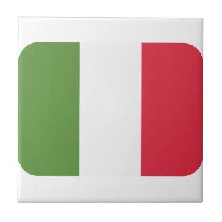 Bandera de Italia - gorjeo del emoji Azulejo Cuadrado Pequeño