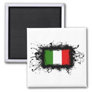 Bandera de Italia Imán Cuadrado