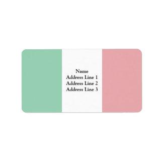 Bandera de Italia, Italia Etiqueta De Dirección