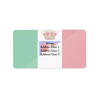 Bandera de Italia, Italia Etiquetas De Dirección