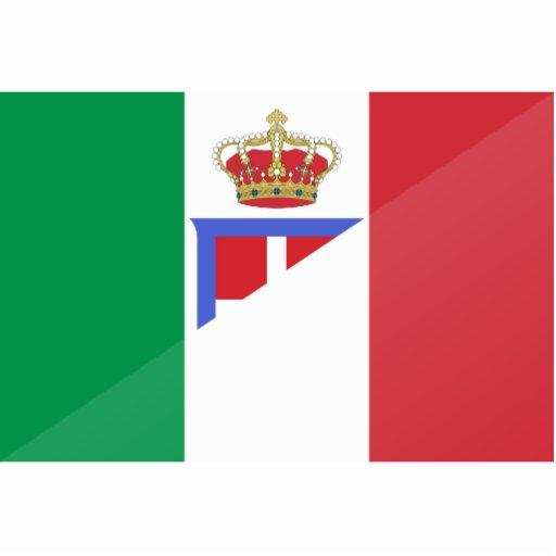 Bandera de Italia, Italia Fotoescultura Vertical