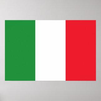 Bandera de Italia/italiana del bandiera Póster