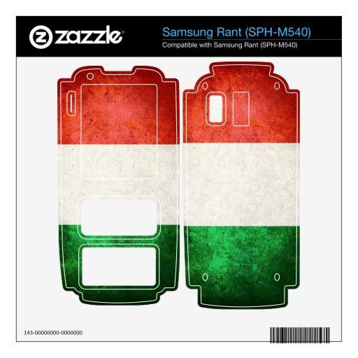 Bandera de Italia; Italiano; Samsung Rant Skins