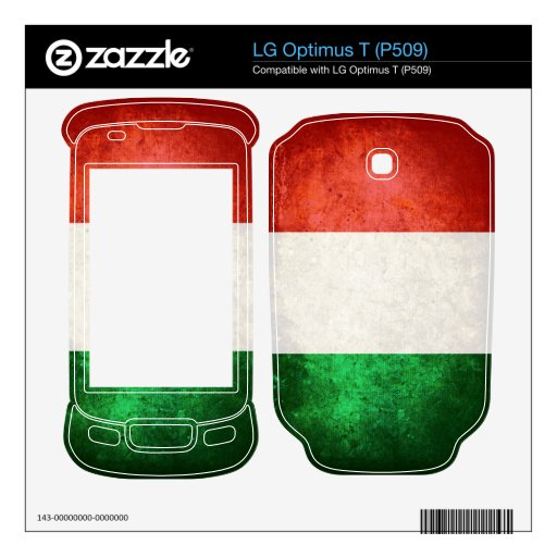 Bandera de Italia; Italiano; LG Optimus T Calcomanías