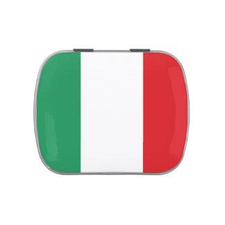 Bandera de Italia Jarrones De Dulces