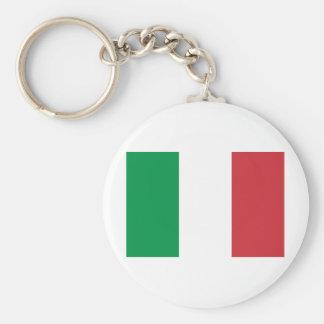 Bandera de Italia Llavero Redondo Tipo Pin