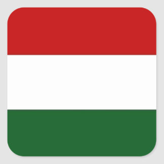 Bandera de Italia o de México/bandera Pegatina Cuadrada