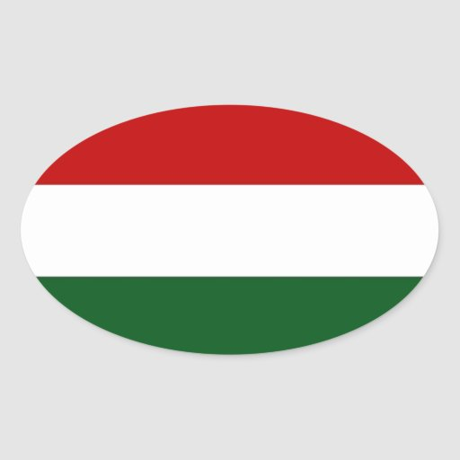 Bandera de Italia o de México/bandera Pegatina Ovalada