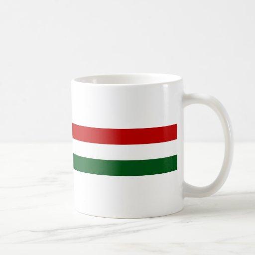 Bandera de Italia o de México/bandera Taza Básica Blanca