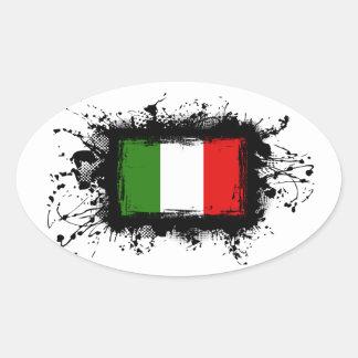 Bandera de Italia Pegatinas Ovales
