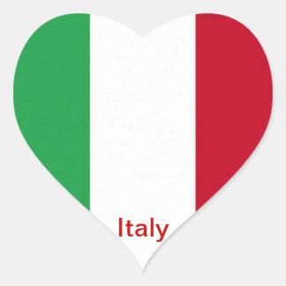 Bandera de Italia Pegatina En Forma De Corazón