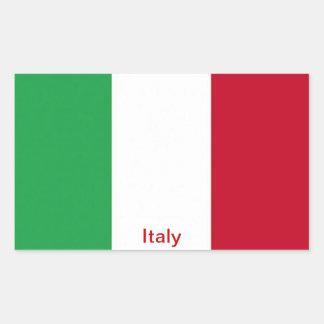 Bandera de Italia Pegatina Rectangular