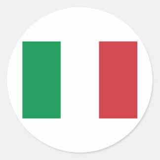 Bandera de Italia Pegatina Redonda