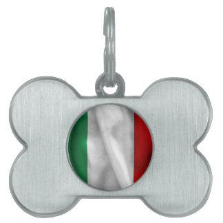 Bandera de Italia Placa Mascota