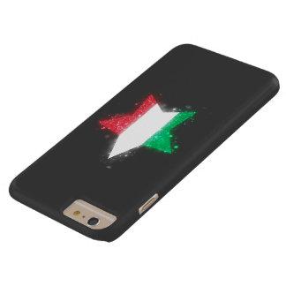 Bandera de Italia que brilla Funda Para iPhone 6 Plus Barely There