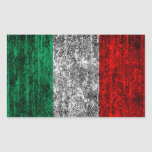 bandera de Italia Rectangular Pegatinas