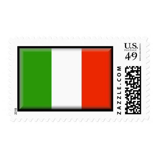 Bandera de Italia Sello Postal