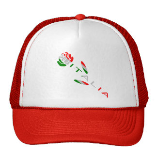 Bandera de Italia subió Gorros