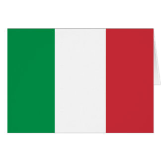 Bandera de Italia Tarjeta