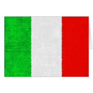 BANDERA DE ITALIA TARJETON