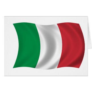 Bandera de Italia Tarjeta De Felicitación