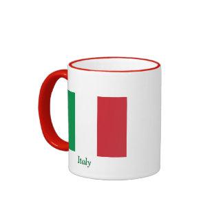 Bandera de Italia Taza De Dos Colores