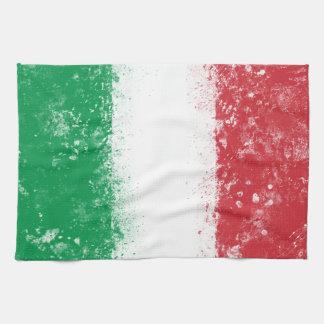 Bandera de Italia Toalla De Cocina
