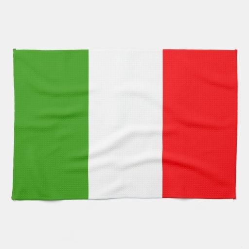 Bandera de Italia Toalla De Mano