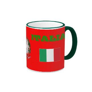 Bandera de ITALIA y taza del escudo de armas