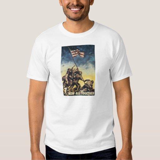 Bandera de Iwo Jima que aumenta el vintage del Camisas