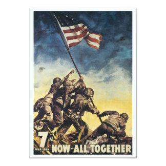 """Bandera de Iwo Jima que aumenta el vintage del Invitación 5"""" X 7"""""""