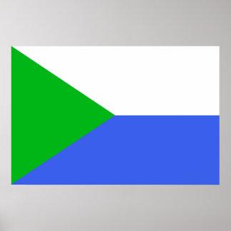 Bandera de Jabárovsk, Rusia Poster