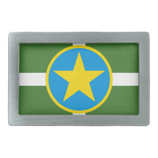 Bandera de Jackson Mississippi Hebilla De Cinturón Rectangular