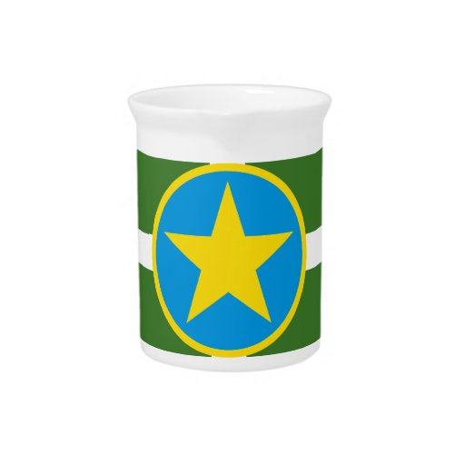 Bandera de Jackson Mississippi Jarras Para Bebida