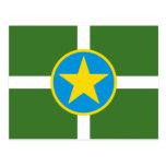 Bandera de Jackson Mississippi Tarjeta Postal
