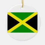 Bandera de Jamaica Adorno Navideño Redondo De Cerámica