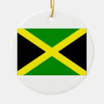 Bandera de Jamaica Adorno Redondo De Cerámica