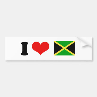 Bandera de Jamaica Pegatina De Parachoque