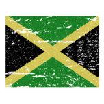 Bandera de Jamaica del vintage Postal
